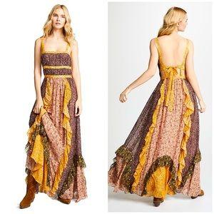 ULLA JOHNSON Brie Floral Print Silk Blend Maxi